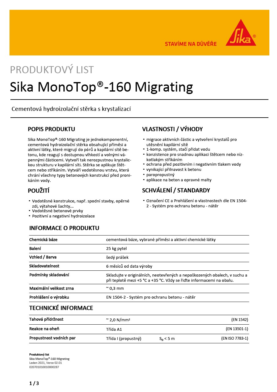 Sika MonoTop®-160 Migrating